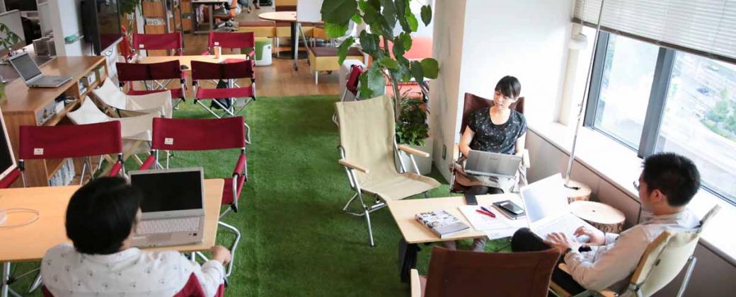 """オフィスと自分の中にある「自然」を挽き出す働き方改革を、はじめよう。- """"OFFICE CAMPERS"""""""